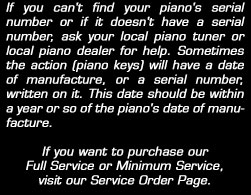 piano serial numbers